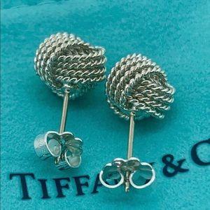 Tiffany&Co Silver twist knot earrings